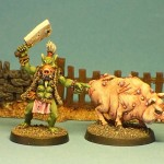 Pig-faced Orcwife, painted by Chris FitzPatrick