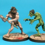 DM6 Minotaur & DM4 Troll, painted by Adrian Walters